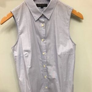 Banana Republic light blue sleeveless blouse